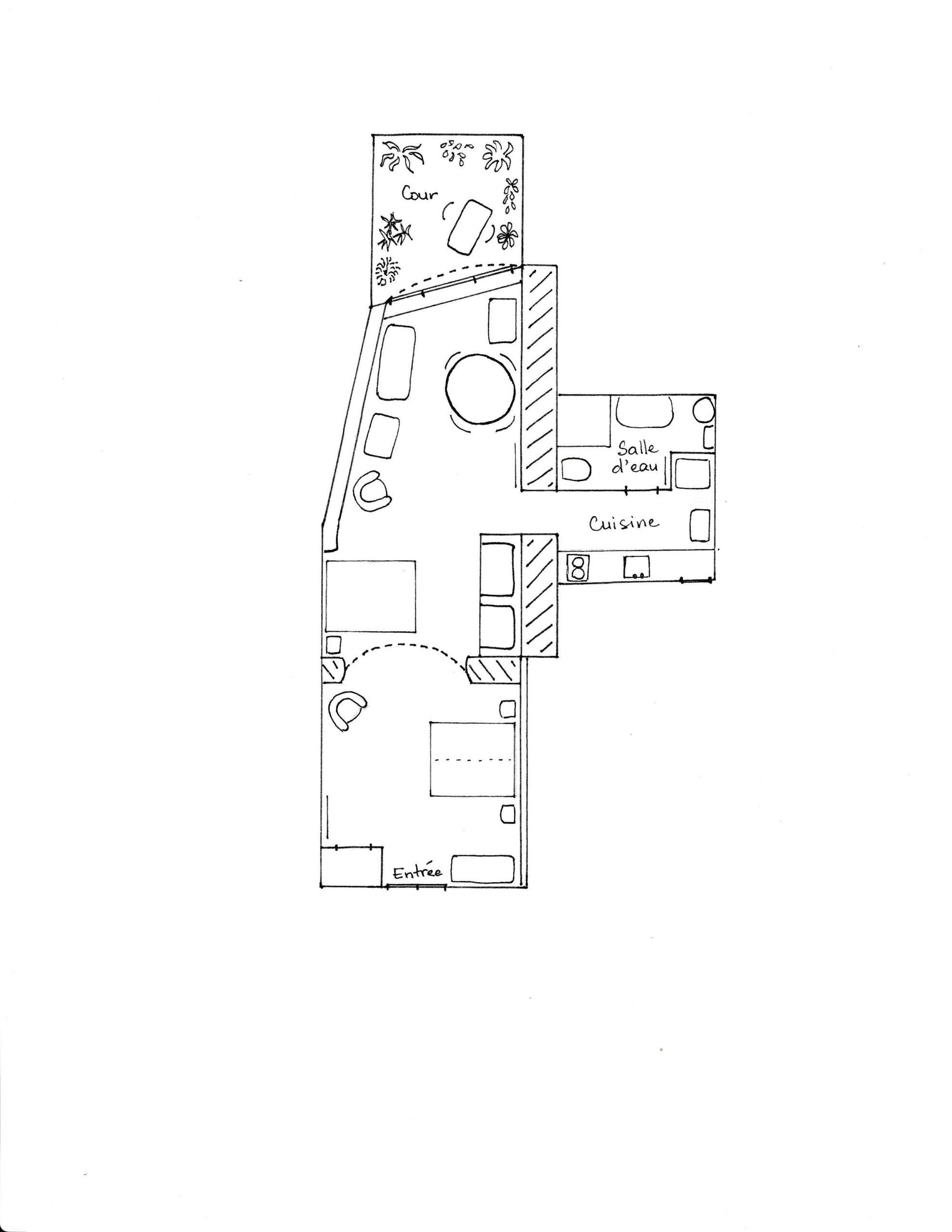 Lagrasse Gîte et Chambre d'Hôtes EstWest Plan du Gîte
